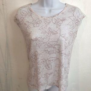 Cynthia Rowley 100% linen blouse       L